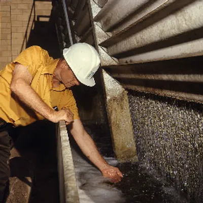Photo of a Worker in a Water Treatment Plant